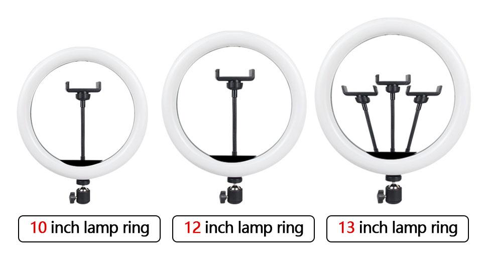 Orsda anel de luz 10-12-13 Polegada led