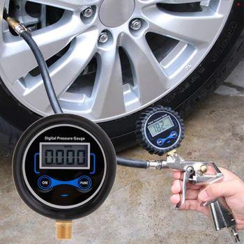 Digital Tire Pressure Gauge Car Bike Motorcycle Tyre Tester Air PSI Meter 1/8NPT R9JC tire pressure guage digital car bike truck auto air psi meter tester tyre gauge 87he