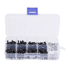 340pcs M3 Flat & Round Head Screws Set Accessories Box For 1/10 Hsp Rc Car 10.9 High Strengt Screw Remote Control Rc Part 270pcs mayitr repair tool screws box assortment kit set for 1 10 hsp rc car accessories