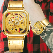 Watch Men Mechanical Dial-Skeleton Square Automatic Luxury New-Arrival Fashion Gold Male