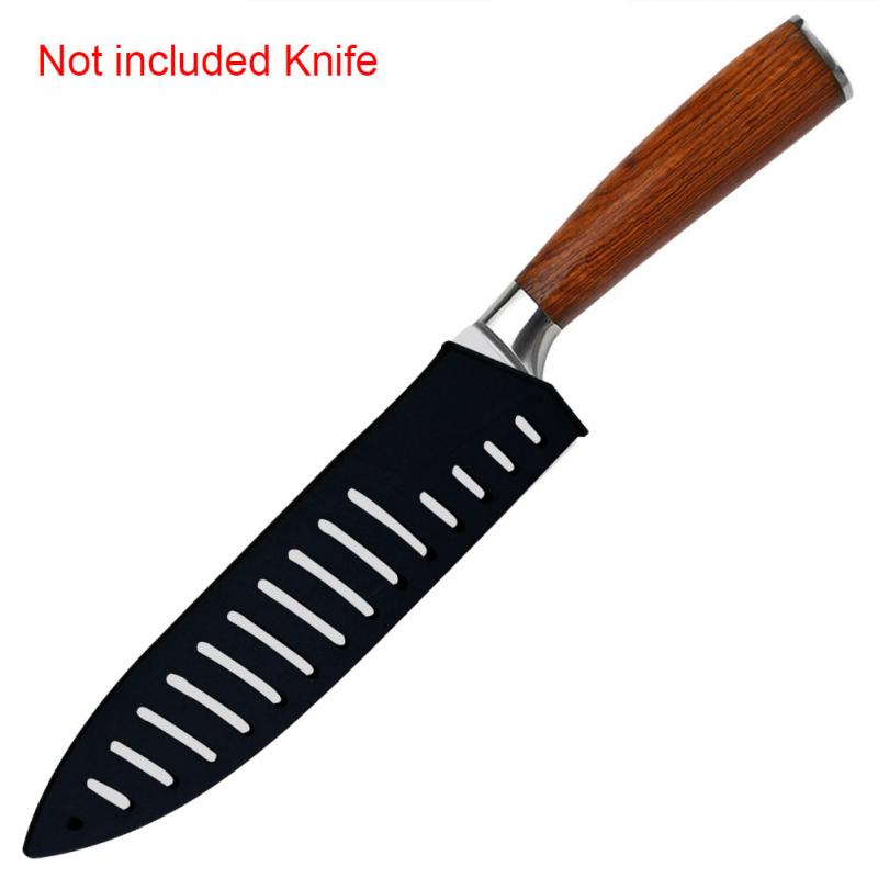 1Pc 8 Inch Knife Sheath Cover Guard Case Black Plastic Kitchen Knife Blade Protector Cover Kitchen Tools