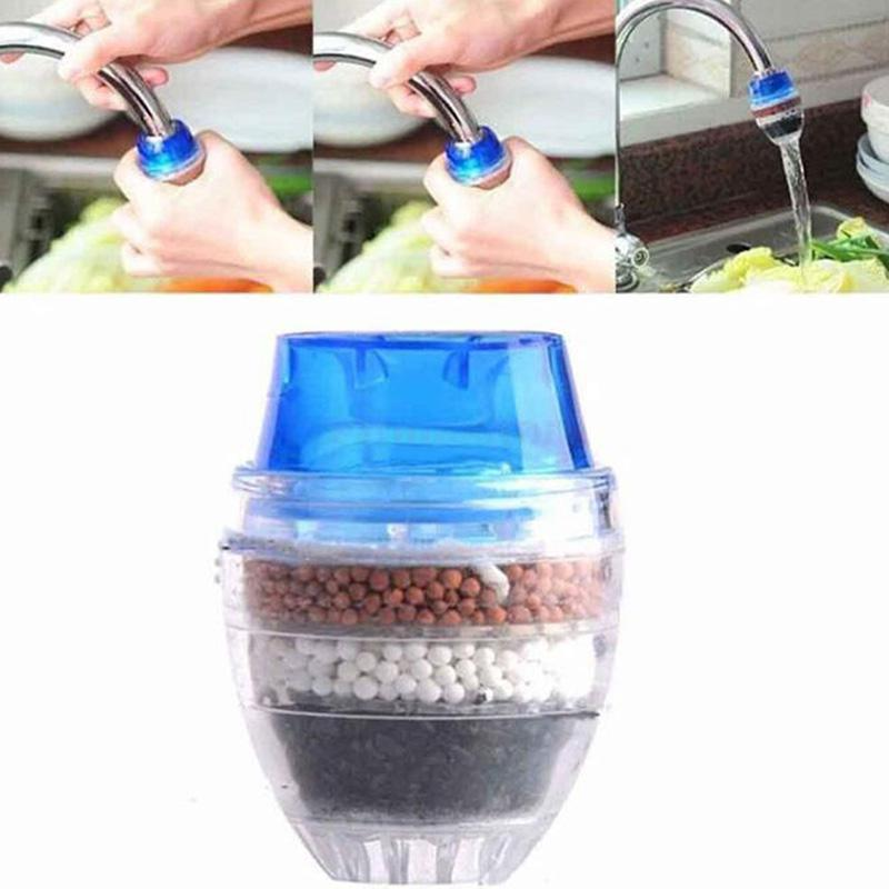 HiMISS Coconut Carbon Home Kitchen Restaurant Faucet Tap Multi Layers Water Clean Purifier Filter Faucet Filtration Accessorie