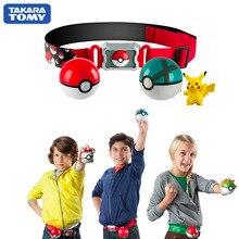 Hakiki abd versiyonu Pokemon usta Elf topu kemer seti teleskopik TAKARA TOMY oyuncaklar çocuk hediye için