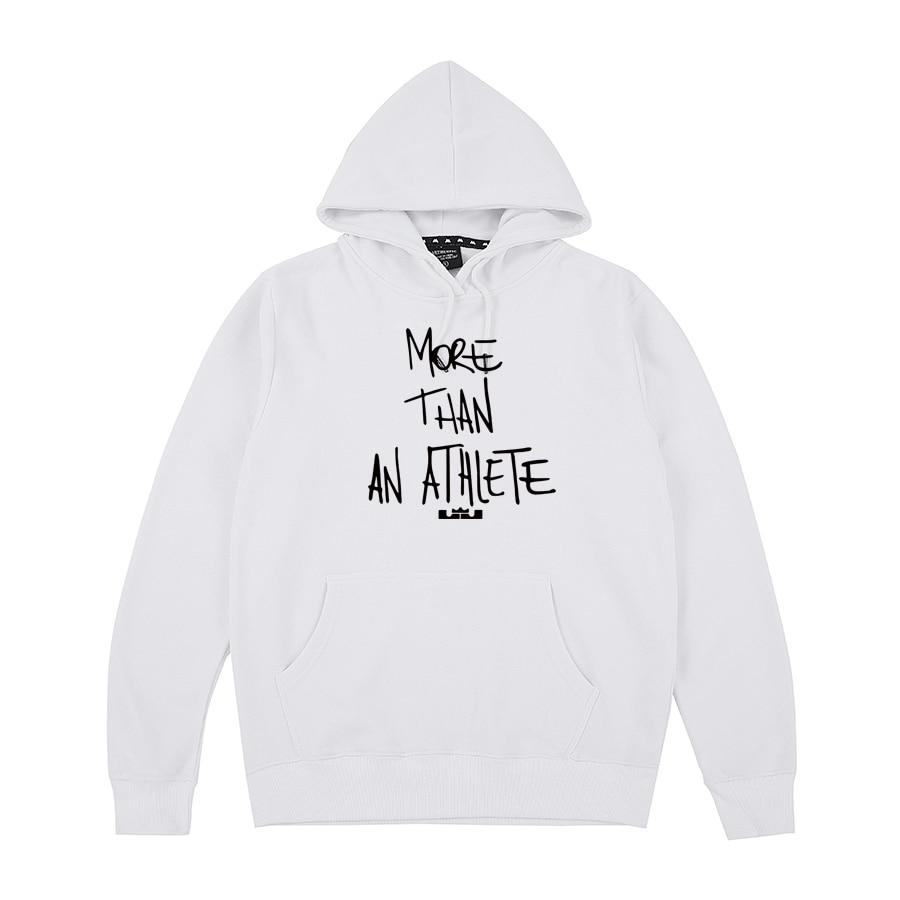 More Than An Athlet LeBron James LA Letter Print Hoodies Sweatshirts Men Women Unisex Cotton