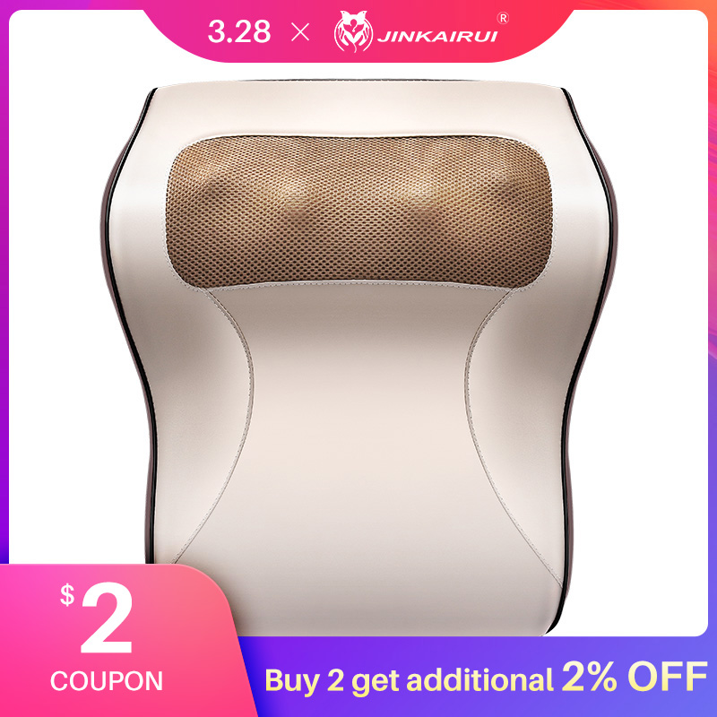 Jinkairui Multi-functional Kneading Cervical Massager Neck Shoulder Waist Full-body Car Home Duel-use Gift Large Massager Pillow