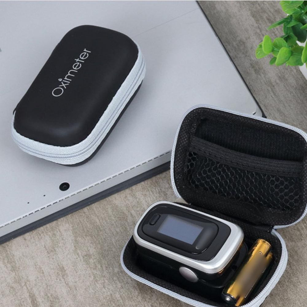 Storage Bag Oximeter Cover Zipper Package Waterproof and Protection Bag Portable Oximeter Storage Box only case without Oximeter