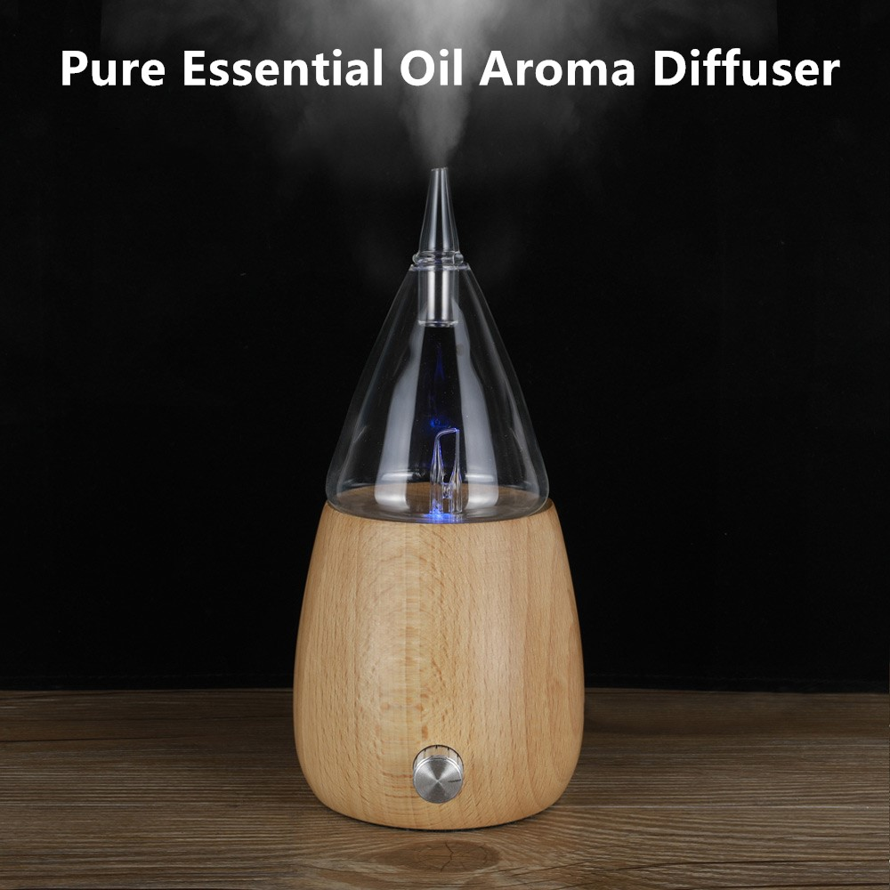 Waterless Pure Essential Oil Diffuser Wood Glass Aromatherapy Vaporizer Diffuser Aroma Difusor Essential Oil Nebulizer For Home