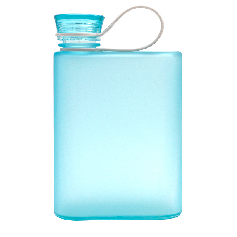 A5 Reusable Student Notebook Shape Water Bottle Flat Daily Portable Clear Bottle