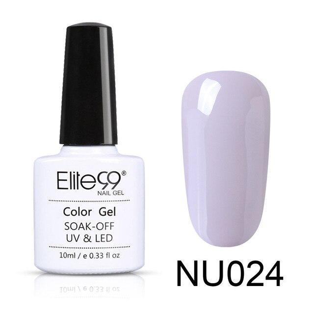 Elite99 Nude Farbe 10ml Gel Polnischen Vernis Semi Permanent UV Gel Für Nail art Gel Lack Tränken Weg Von Nagel primer Gel Lack