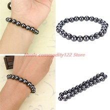 New 1Pc Weight Loss Round Black Stone Hot Unisex Magnetic Therapy Bracelet Health Care Luxury Slimming Product