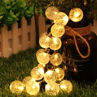 LED Solar Lamp Fairy String Lights 30LED Outdoor bubble Blossom Decorative Garden Patio Christmas Trees Wedding Party Waterproof