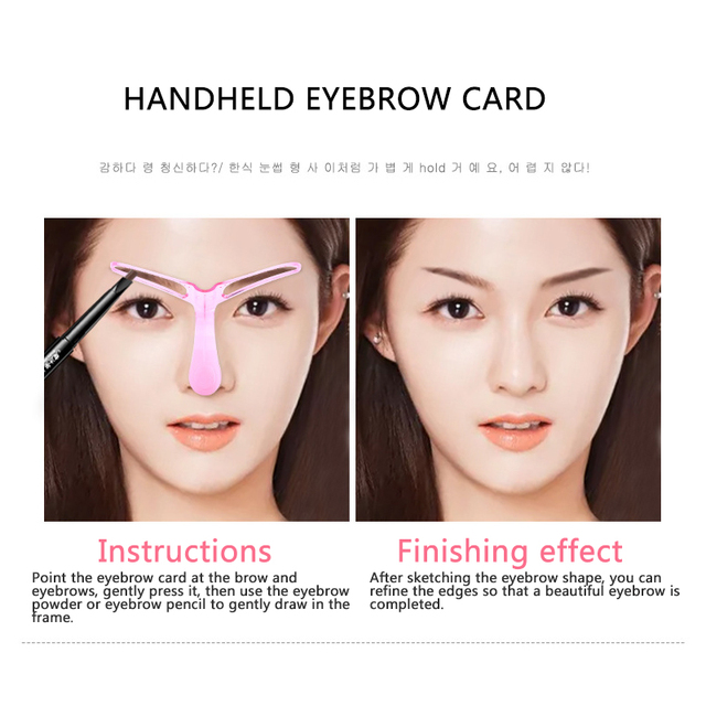 3Pcs Reusable Eyebrow Stencils Makeup Eyebrow Shaping Template Grooming Card Eyebrow Shaping Card Kit Makeup Guide Tool 2Colors 3