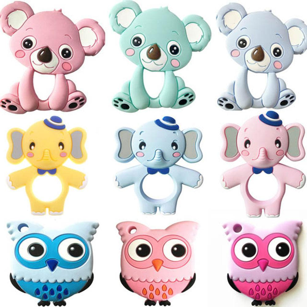 Baby Cute Cartoon Animal Teether Toys Vivid Color Educational Toy Gifts For Baby