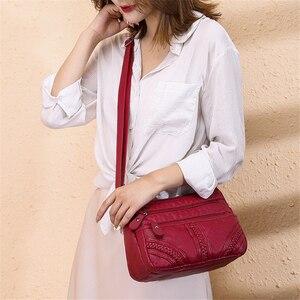 Image 3 - Ladies Multi pocket Messenger Bag High Quality Soft PU Leather Shoulder Bags Casual Crossbody Bags for Women 2020 Bolsa Feminina