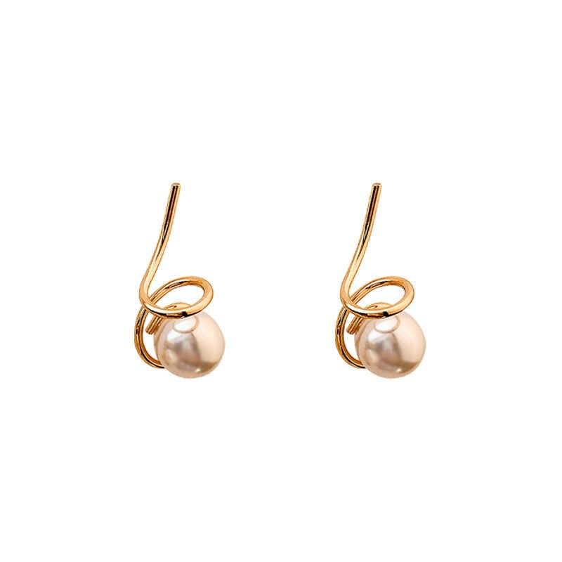 คลาสสิกจำลองไข่มุกรอบผู้หญิง Dangle ต่างหูบุคลิกภาพเพิร์ลออกแบบหูเล็บโบฮีเมียน Drop ต่างหูเครื่องประดับต่างหู