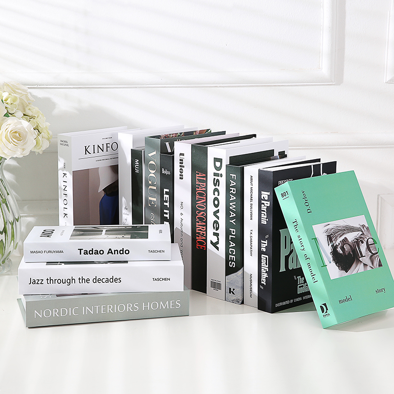 Simple Modern English Fake Book Decorations Ornaments Ins Wind Magazine Photography Props Book Hotel Soft Clothes