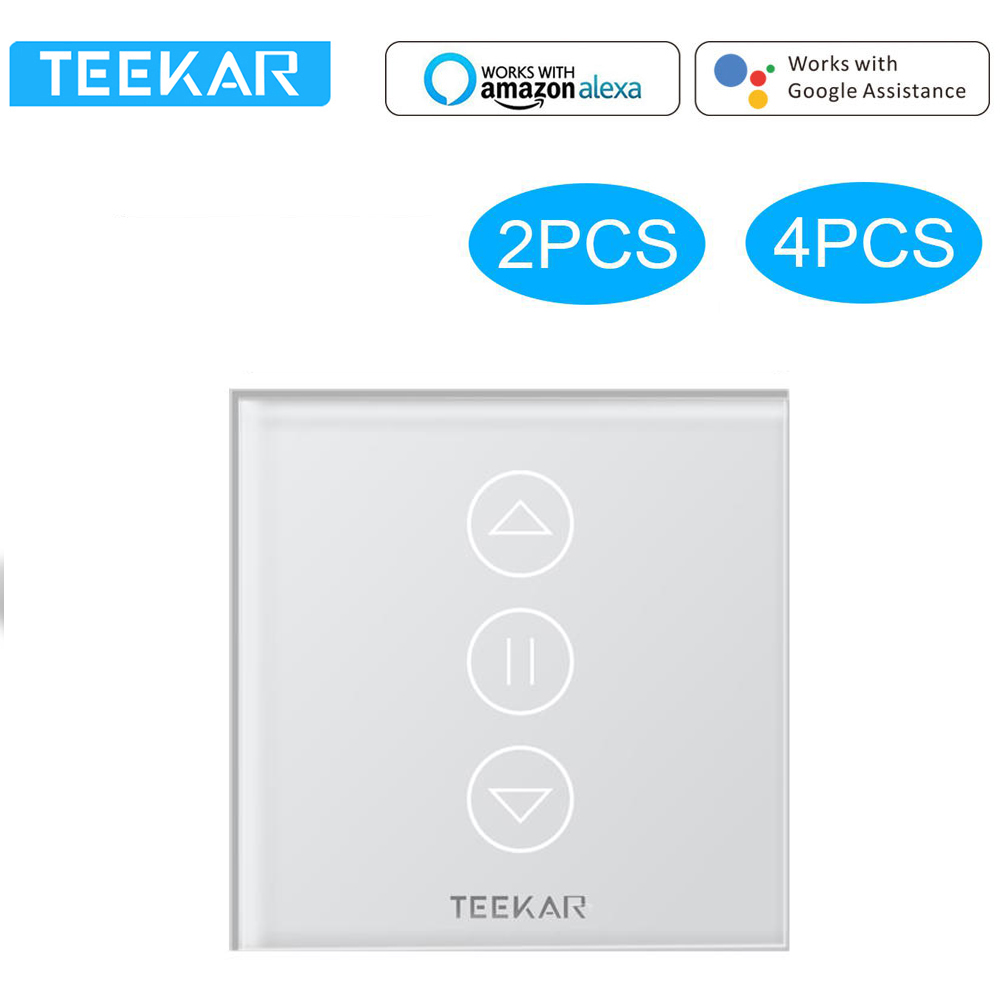 Teekar 4th Generation WiFi Curtain Blind Switch Tuya Smart Life Smart Home Roller Shutter Electric Motor Alexa Google Home Lot