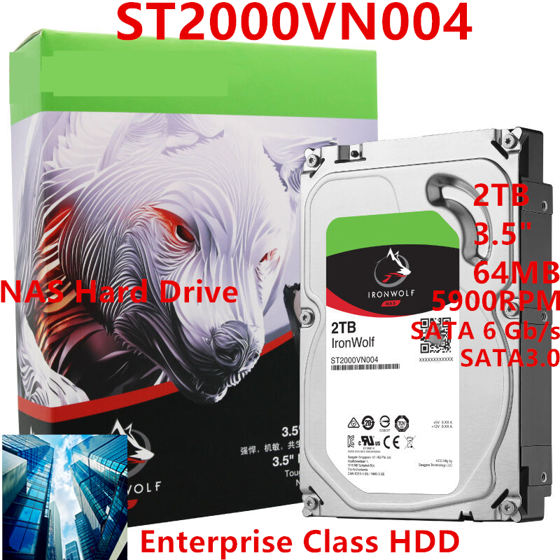 New <font><b>HDD</b></font> For Seagate Brand IronWolf <font><b>2TB</b></font> 3.5