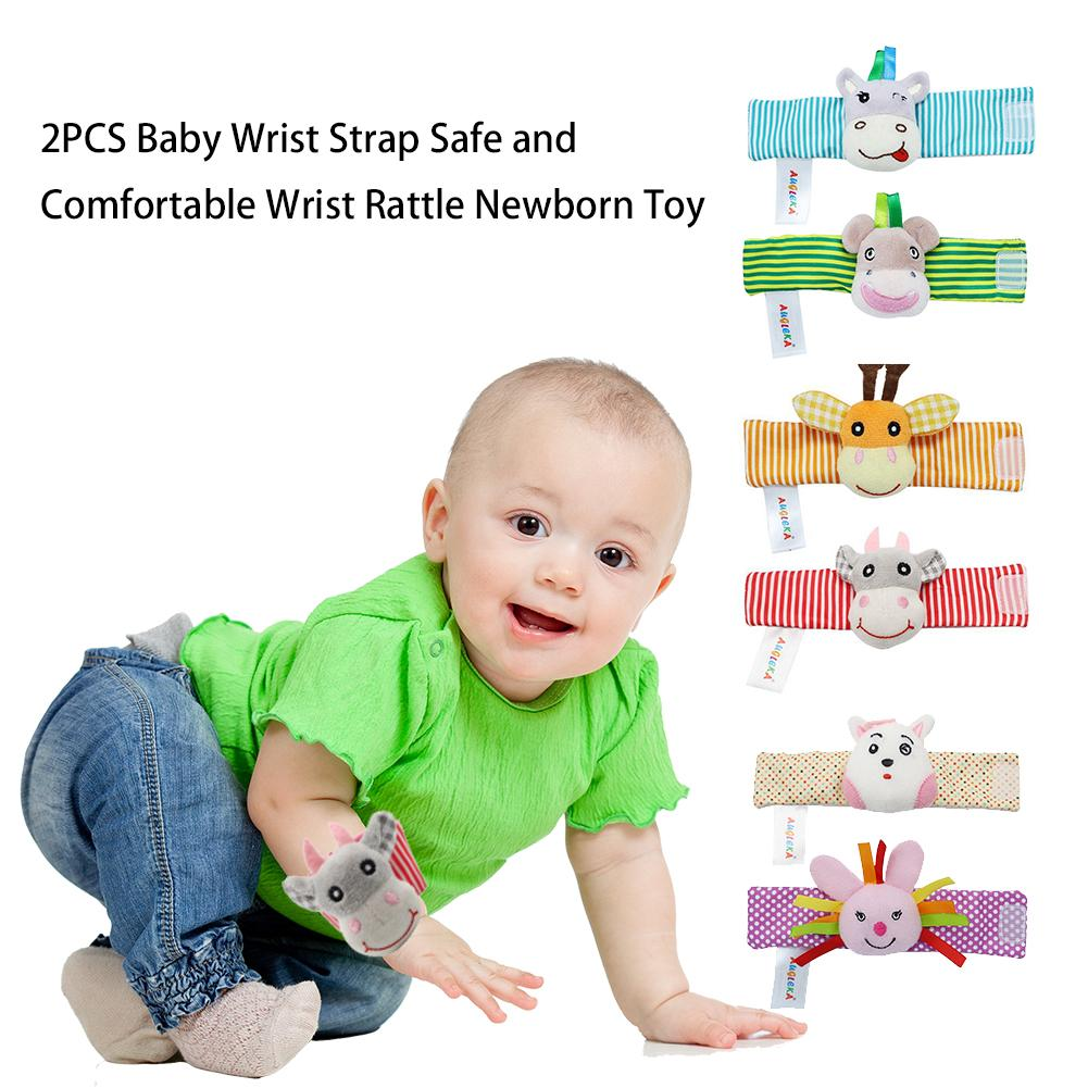 Baby 2PCS Rattle Baby Toys 0-12 Months Sozzy Garden Bug Wrist Rattle And Foot Sock Educational Toys Christmas