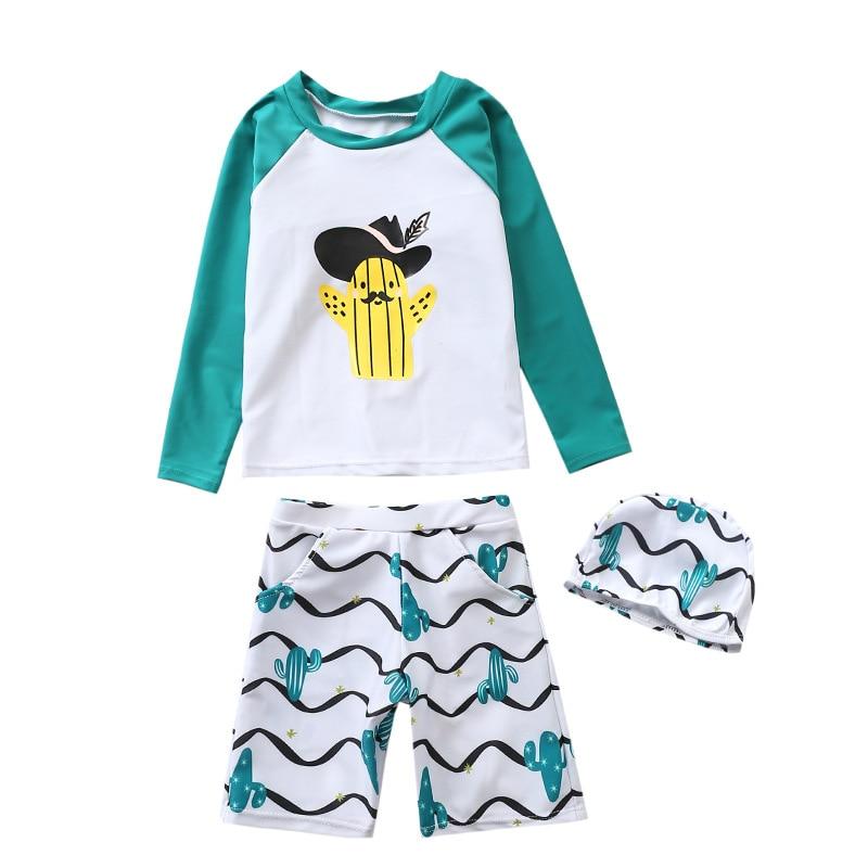 CHILDREN'S Swimwear Split Children Baby Hot Springs BOY'S Tour Bathing Suit Beach Cartoon Cactus Swimsuit For Boys