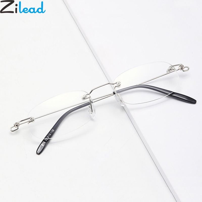 Zilead Aolly Framless Reading Glasses Business Men Women Prebyopia Spectacles Eyeglasses Hyperopia Eyewear+1.0+1.25+1.5...+4.0