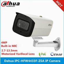Dahua IPC HFW4433F ZSA 4MP Starlight Camera 2.7Mm ~ 13.5Mm Varifocale Gemotoriseerde Lens IR80M Ingebouwde Microfoon Poe Ip camera