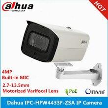 Dahua IPC HFW4433F ZSA 4MP Starlight kamera 2.7mm ~ 13.5mm değişken odaklı motorlu lens IR80M dahili mikrofon poe IP kamera