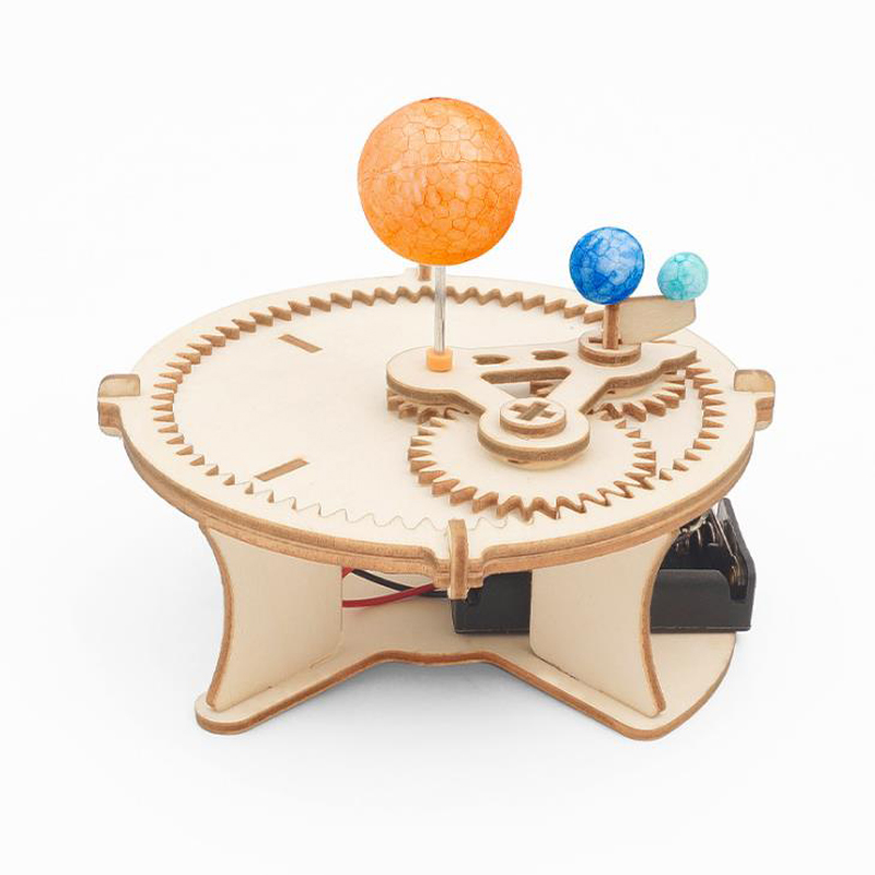 1 Set New Science Toys Electric Solar System Model Astronomy Sun Earth Moon Planet Experiment Educational Toy for Children Gifts