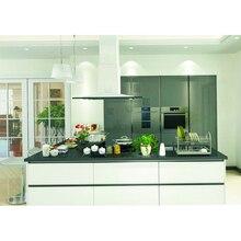 Модный интегрированный кухонный черно-белый кухонный шкаф островок
