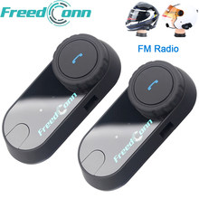 Original auricular FreedConn TCOM-OS de la motocicleta Intercomunicador Bluetooth casco auriculares T-COM OS 2 jinetes FM BT Intercomunicador interfono(China)