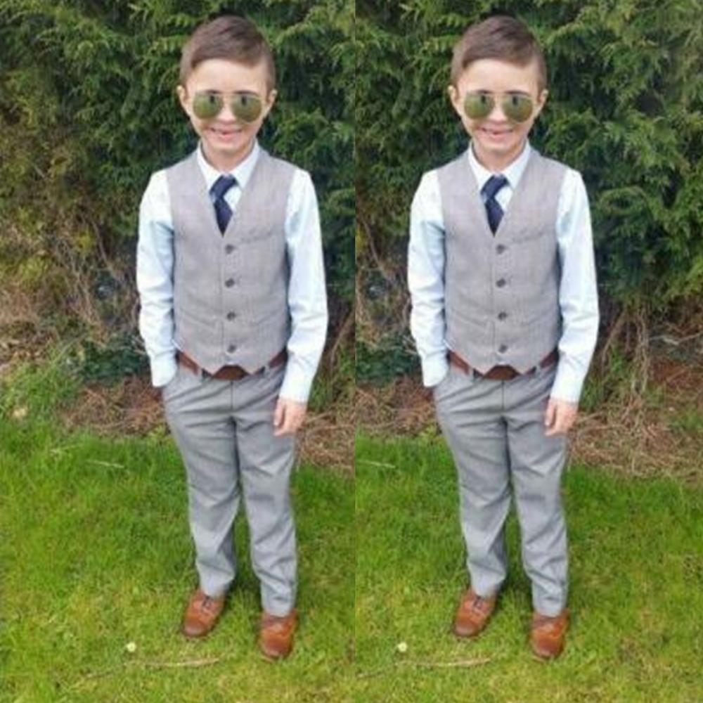 Boys Kids Blazer Suit Sets Flower Boys Baby Suits Sets Cotton Clothes Boys Formal Blazers for Weddings Vest+Pants