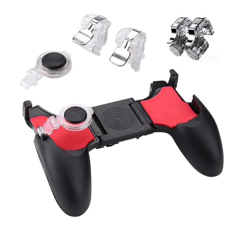 <font><b>PUBG</b></font> 5 in 1Moible Controller Free Fire L1 R1 Triggers Gamepad Game Pad Grip L1R1 <font><b>Joystick</b></font> for iPhone Android Phone Shooter image