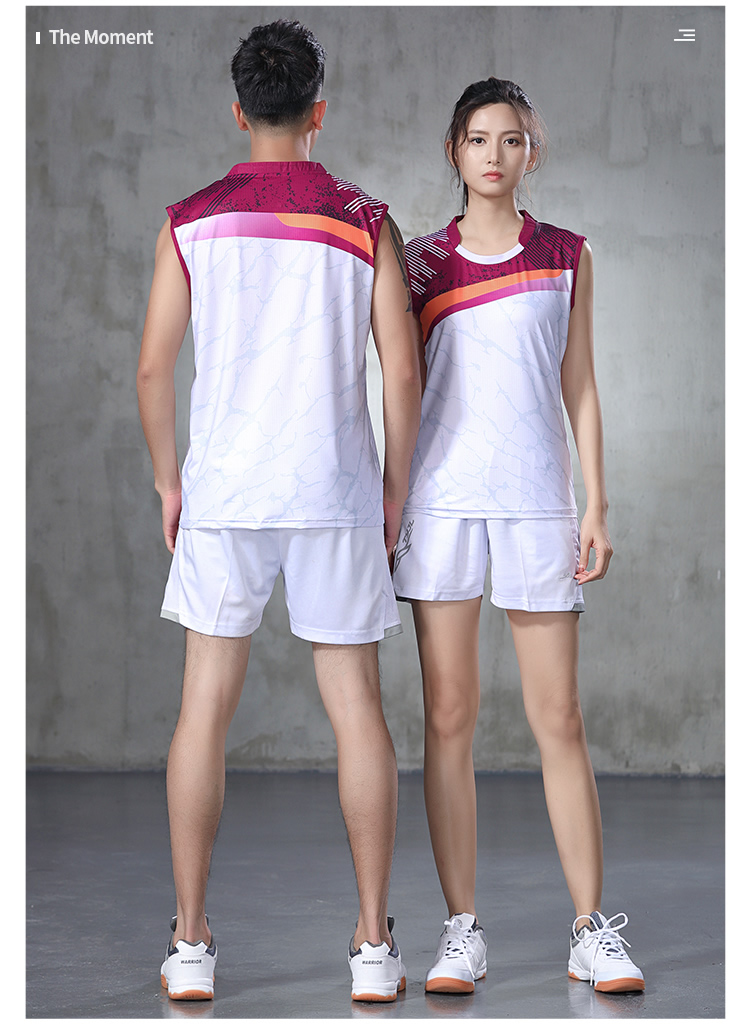 Novo terno de badminton tênis de mesa
