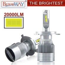 BraveWay 20000LM светодиодный авто лампы H1 H4 H8 H9 H11 HB3 HB4 9005 9006 головной светильник светодиодный H7 Canbus H11 H7 светодиодный лампы Светильник лампы для автомобилей
