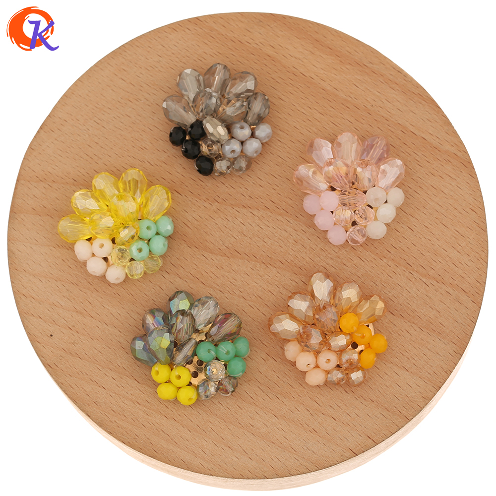 Cordial Design 40Pcs 23*25MM Jewelry Accessories/DIY Making/Pendant/Flower Shape/Hand Made/Earring Findings/Crystal Charms