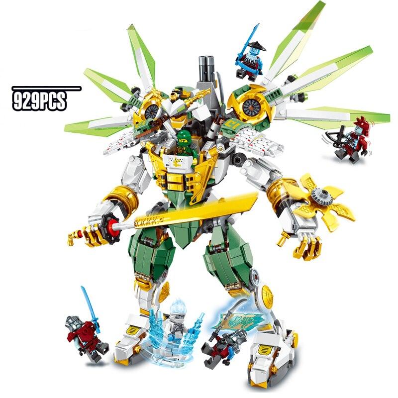 2019 New LLOYD TITAN MECH 929pcs Kai Jay Ninja Mini Action Toys Legoinglys Ninjagoed Figures Building Blocks Bricks For Children