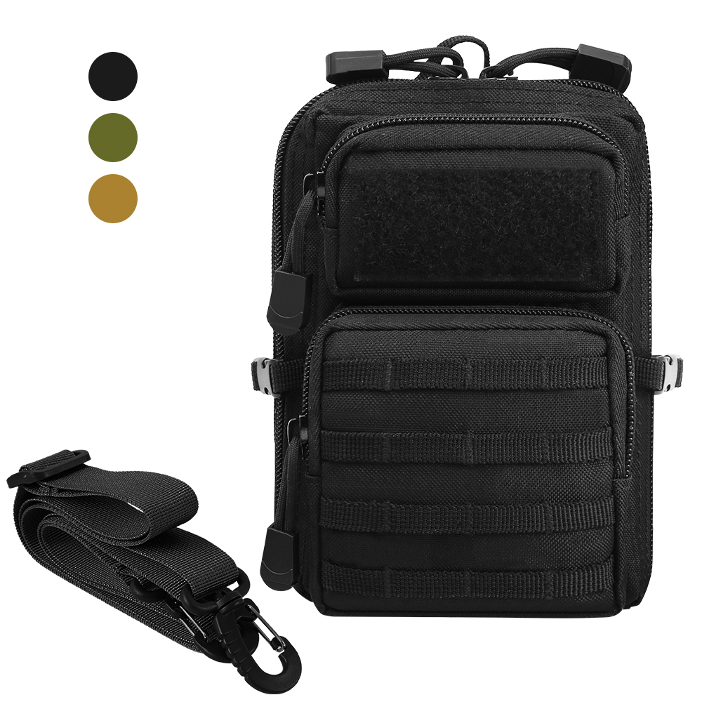 1000D Tactical Molle Pouch Bag Outdoor Utility EDC Tool Pouch Phone Bag Case Hunting Waist Pack Military Airsoft Accessory Bag