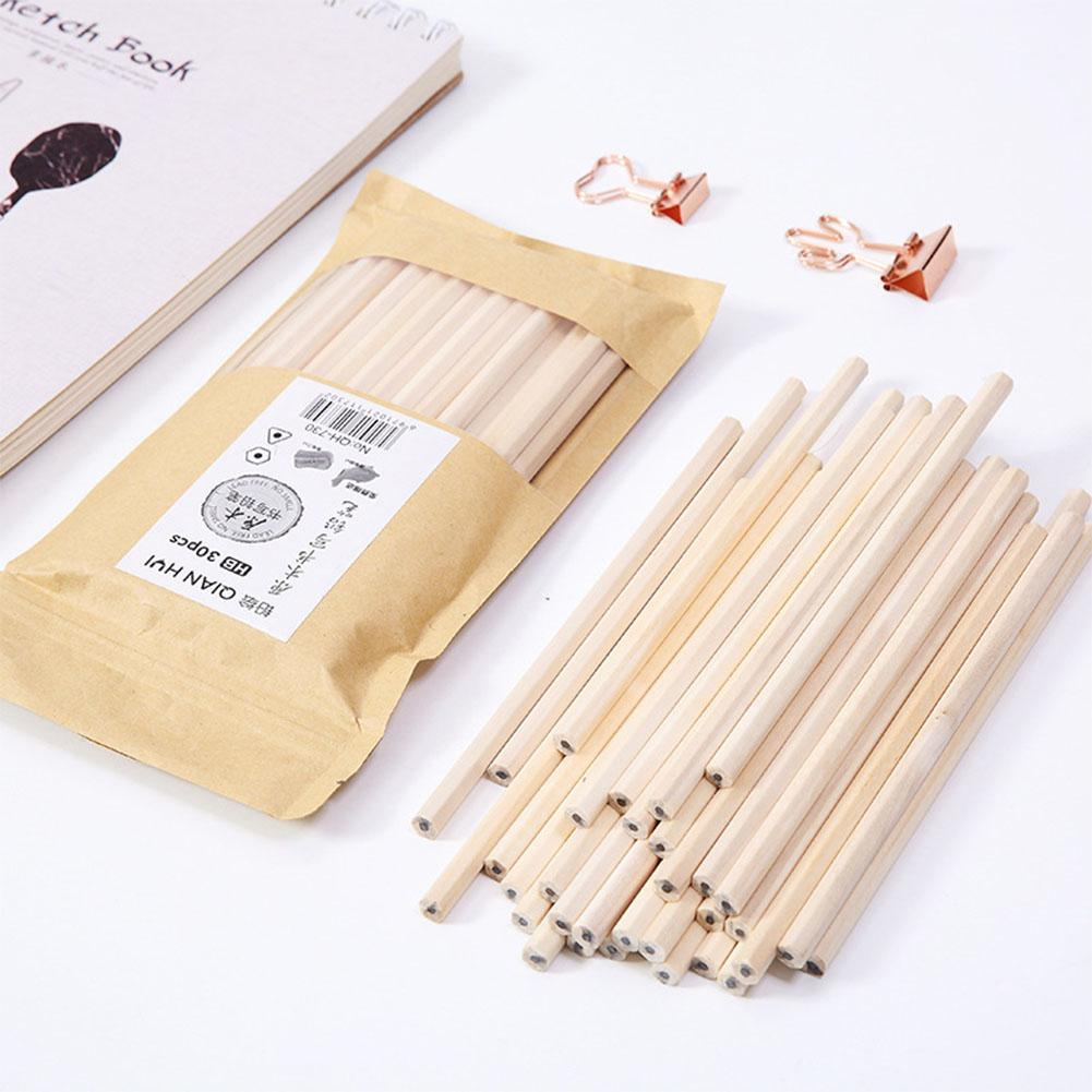 50Pcs 18cm Length Triangle Hexagon HB Pencil Set Wooden Standard Pencils Students School Office Stationery