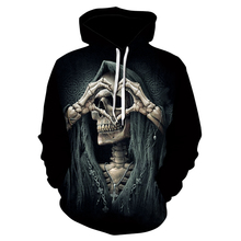 Hoodie Pullover 3d-Printing Punk-Style Winter Men's Fashion Hip-Hop Autumn And