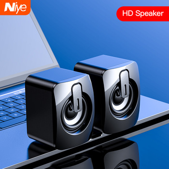 Mini Computer Speaker USB Wired Speakers 3D Stereo Sound Surround Loudspeaker For PC Laptop Notebook Not bluetooth Loudspeakers 1