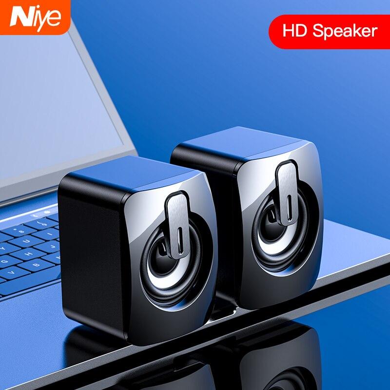 Mini altavoz de ordenador, altavoces cableados con USB, sonido estéreo 3D, envolvente, para PC, portátil, Notebook, sin altavoces de bluetooth