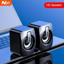Мини компьютерный динамик USB проводной динамик s 3D стерео звук объемный Громкий динамик для ПК ноутбука не динамики с bluetooth динамик s