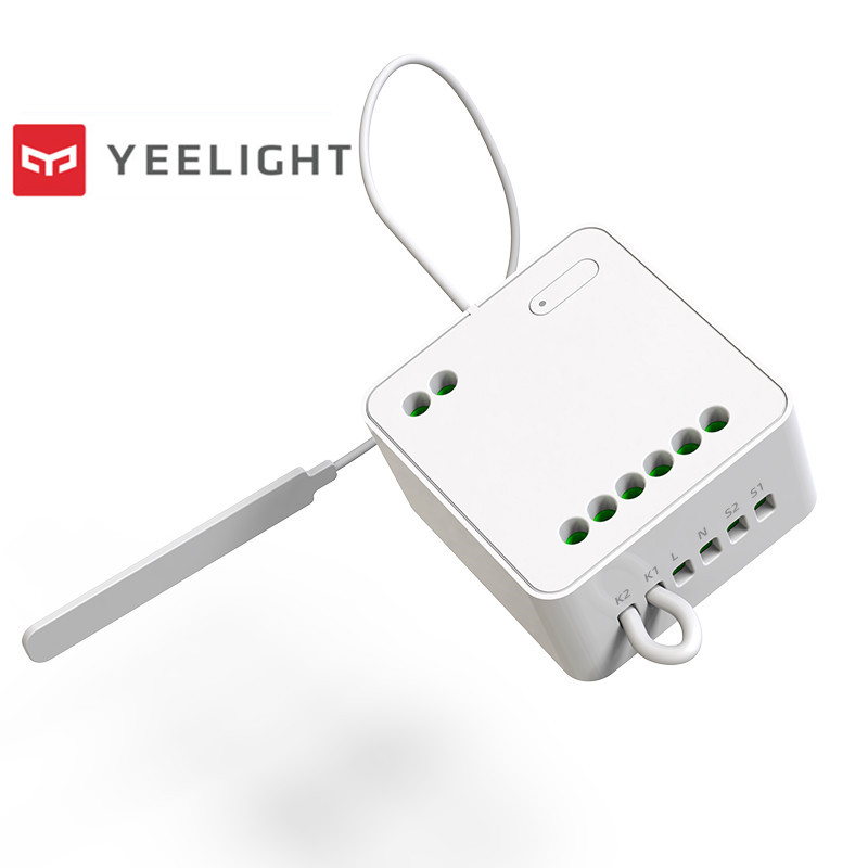 Original Yeelight Two-way control module Wireless Relay Controller 2 channels smart switch Work For Mijia APP to wifi amp ble