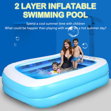 Inflatable swimming pool baby adult home paddling pool thickened wear-resistant marine ball inflatable swimming pool children multi layer bathing tub baby home paddling pool inflatable summer swimming pool kids inflatable pool ocean ball
