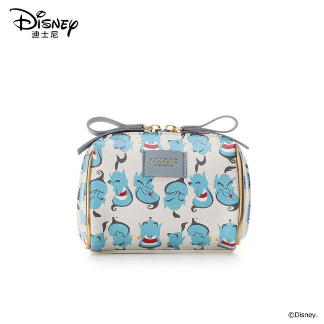 Disneys New Travel Cosmetic Bag Clutch Aladdin Women Make Up Bag Girls Pouch Makeup Travel Wash Storage Bag Luxury Handbag
