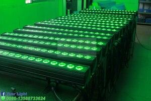 Image 5 - 4 adet/grup 18x18W RGBWA UV 6IN1 LED duvar yıkayıcı ışık DMX512 ses disko DJ parti Bar düğün duvar yıkama sahne etkisi aydınlatma
