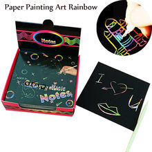 Magic Scrape Painting Paper Art Rainbow Learning Education Toys Portable Electronic Tablets Drawing Toys(China)