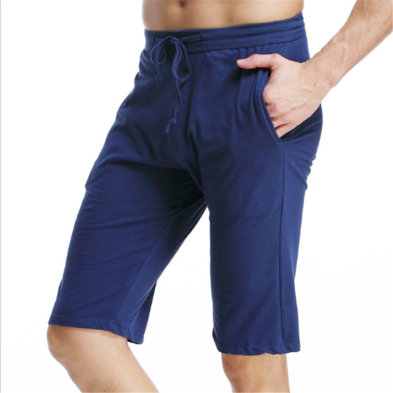 Summer MENS Leisure Home Middle Pants Loose Sports Household Pants Breathable And Comfort Fitting Five Points Trousers