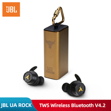 Original JBL UA ROCK TWS In Ear Wireless Bluetooth V4.2 Earphone Sport Ture Wiessless Waterproof Earphonewith Charge Box and Mic