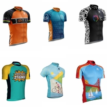 цена на 2019 Summer Cycling Jersey Mtb Shirt Mens Short Ropa Ciclismo Bicycle Clothing Quick Dry Bike Clothes Top Wear sports maillot